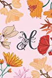 H: Monogram Initial Notebook Letter A For Women And Girls | Monogram Gifts For Women | Small Noteboo...