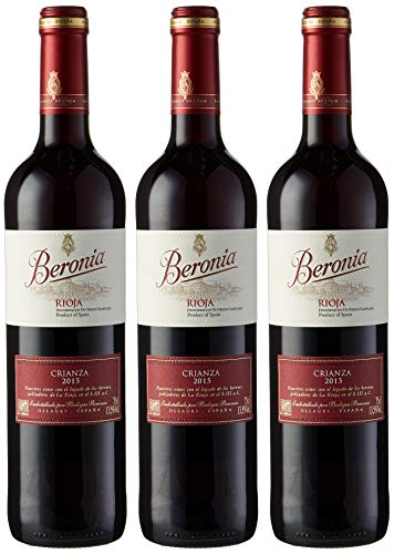 Beronia Crianza Vino Tinto - 3 botellas x 750 ml - Total:...
