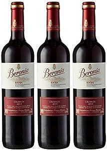 Beronia Crianza Vino Tinto - 3 botellas x 750 ml - Total: 2250ml