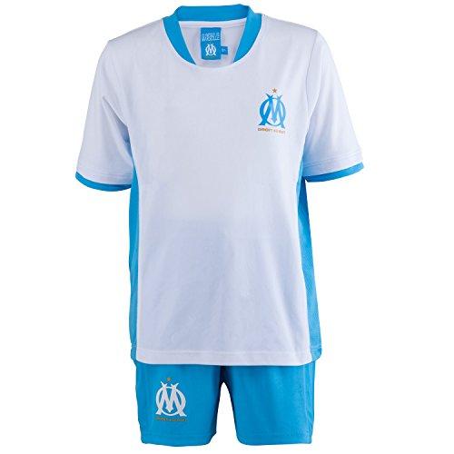 Olympique de Marseille Trikot + Shorts, offizielle Kollektion, Kindergröße, Jungen 12 Jahre blau