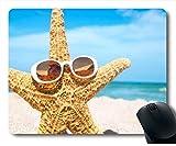 Alfombrilla de ratón con Estrellas de mar en Spring Beach Iwallhd Neopreno Caucho estándar PM099