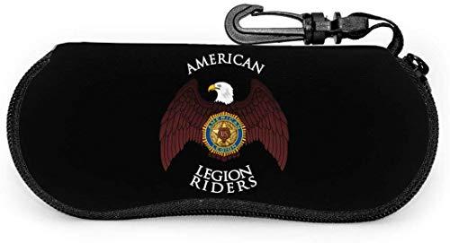 American Legion Riders ultralichte draagbare brillenkoker met karabijnhaak met waterdichte ritssluiting en zonnebril