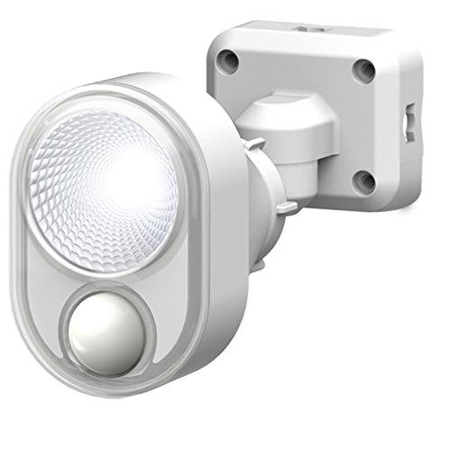 ムサシ RITEX フリーアーム式LEDセンサーライト(4W×1灯)防雨タイプ コンセント式 ホワイト LED-AC103