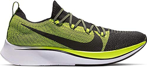 Nike Zoom Fly Flyknit Men's Running Shoe Black/Black-Volt-White Size 10.5