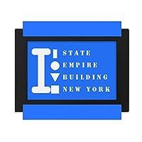 ニューヨーク州 デスクトップフォトフレーム画像ブラックは、芸術絵画7 x 9インチ