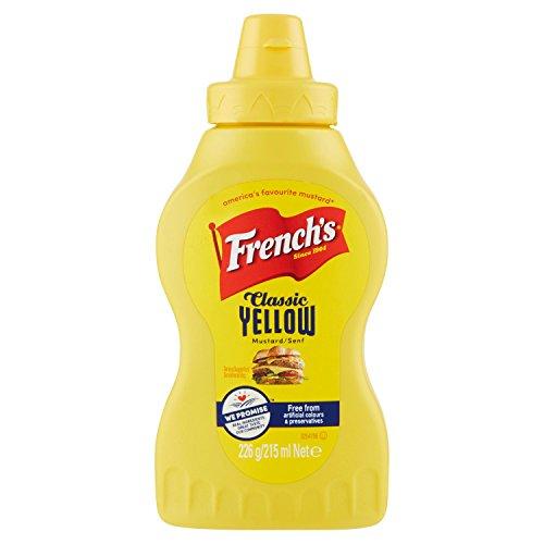 CMC French S Classic Yellow Mustard, 4confezioni (4x 215ml)