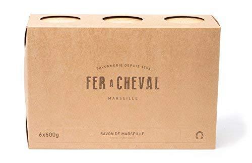 Fer à Cheval - Véritable Savon de Marseille Végétal - Cube Lot de 6x600g