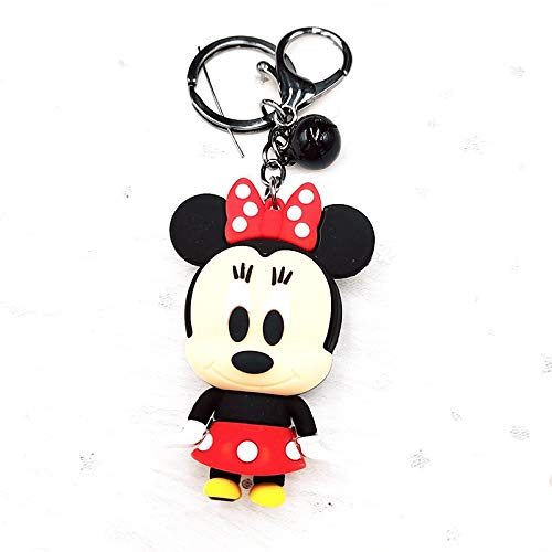 Keychain Disney Mickey Mouse Cartoon Keychain Cute Fashion Simple Donald Duck Stitch Daisy Key Chain Handbag Pendant Gifts for Men key ring (Color : 7, Size : Normal)