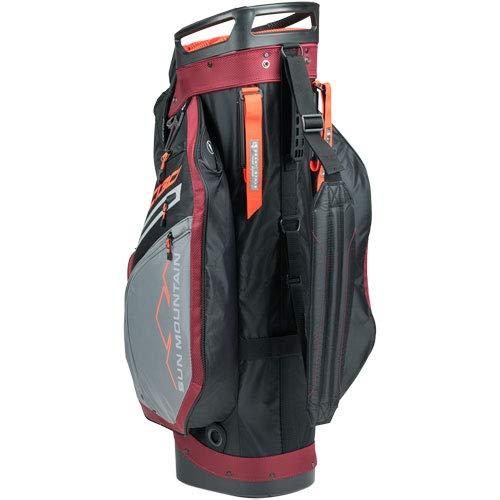 Product Image 9: Sun Mountain C-130 Cart Bag Golf Black/Garnet/Gunmetal/Inferno 2020 New