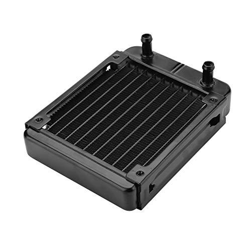 ASHATA 120mm Aluminium Radiator, Computer CPU Wasserkühlung Aluminiumheizkörper,10 Röhren Wasserkühler Kühlkörper 120mm Radiator für PC Wasserkühlung Schwarz