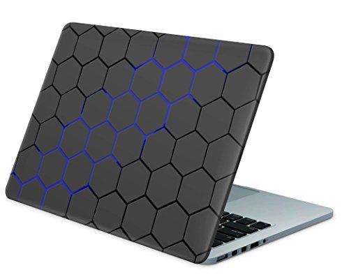 """Skins4u Laptop Aufkleber Universal Skin Netbook Sticker von 10 bis 17,3\"""" individuell auf Ihr Maß geschnitten - Exo Blau"""