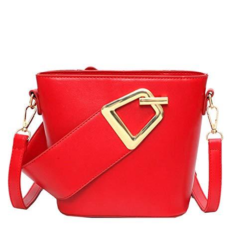 Vrouwen portemonnees en handtassen Women'S Bag Mode Hardware Decoratieve Breedband Bucket Bag Schouder Messenger Bag