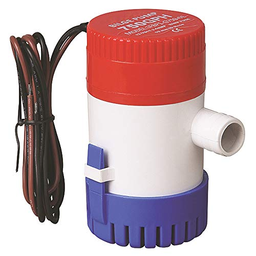 Electric Bilge Pump 500GPH 750GPH 1100GPH 12VDC 2.5AMP 19mm Industrial Water Pump Submersible Pumps for Hydration Fountain Ship (12V-750GPH)