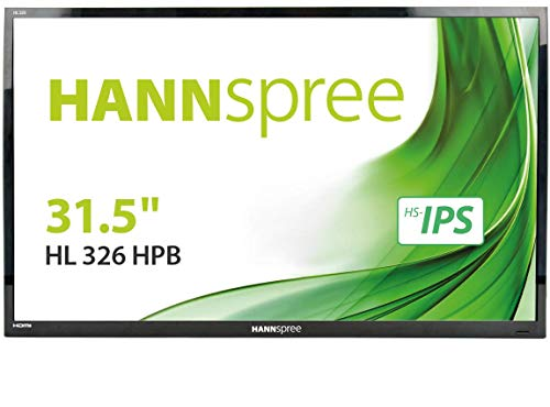 Hannspree Hanns.G HL 326 HPB 32  Full HD TFT Black computer monitor - computer monitors (81.3 cm (32 ), 1920 x 1080 pixels, LED, 8 ms, 300 cd m², Black)