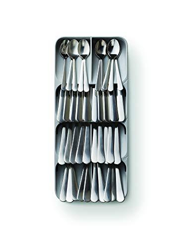 Joseph Joseph DrawerStore Kitchen Drawer Organizer Tray for Cutlery, Silverware, Large, Gray