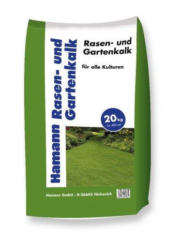 Hamann Rasen- und Gartenkalk 20 kg - verbessert den Rasen - Durch hohe Löslichkeit wirkt Rasen und Gartenkalk besonders schnell und nachhaltig