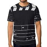 WIHVE Black Movie Clapboard Men's Crew Neck Short Sleeve T-Shirt
