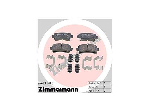 ZIMMERMANN 24421.170.3Serie Bremsbeläge, vorne, 1Sensor, inklusive Platte dämpfend, inklusive Zubehör