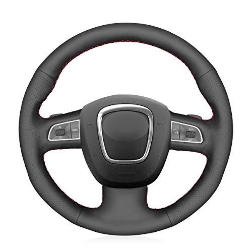 MEWANT Funda para volante de piel para Audi A3 8P Sportback A4 B8 Avant A5 8T A6 C6 A8 D3 Q5 8R Q7 S3 S4 S5 S6 S8 / A3
