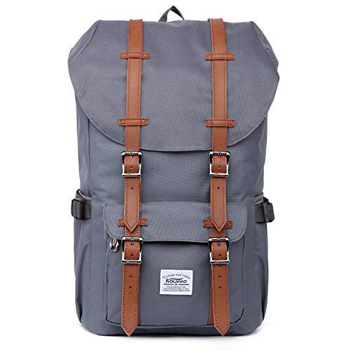 """KAUKKO Rucksack Damen Herren Studenten 17 Zoll Backpack für 15\"""" Notebook Lässiger Daypacks Schüler Bag für Wandern 47 cm, 22.4 L"""