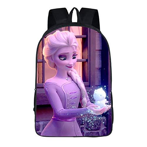 Mochila Frozen de Disney Princess con impresión 3D de dibujos animados, mochila para niñas y estudiantes, gran forma y aspecto