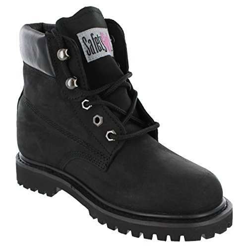 Safety Girl II Steel Toe Work Boots - Black - Size 8M