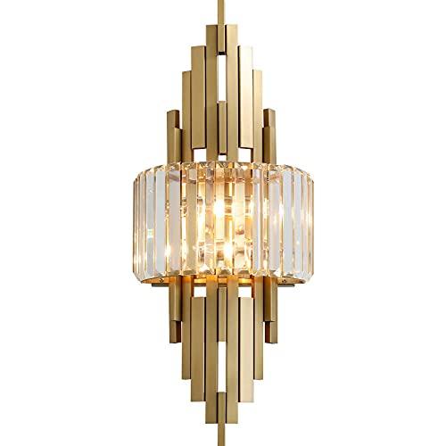 Lámpara de pared de cristal de lujo moderna con ajuste de temperatura...