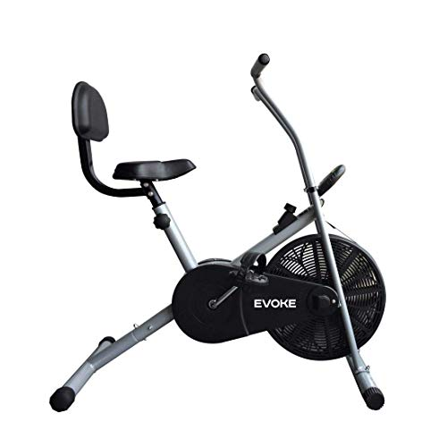 Evoke Ojas - 90 BS Blend Exercise Cycle with Stationary Handles and Back Support, perfect fitness...