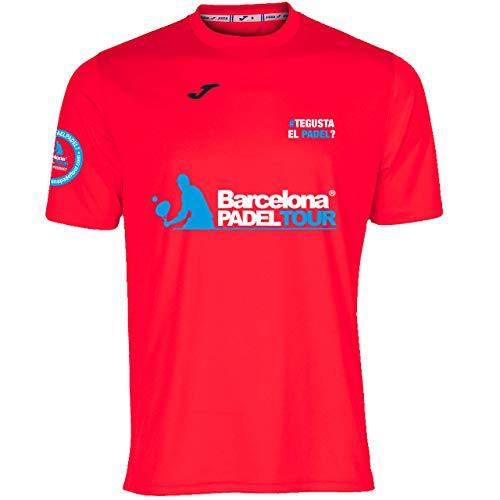 Barcelona Padel Tour | Camiseta Manga Corta Técnica Joma Gusta el Padel Hombre | Estampación Especial de Pádel | De Tacto Suave y Secado Rápido | Ropa Deportiva Coral M