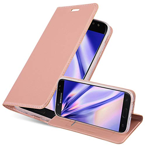 Cadorabo Funda Libro para Samsung Galaxy J5 2017 en Classy Oro Rosa - Cubierta Proteccíon con Cierre Magnético, Tarjetero y Función de Suporte - Etui Case Cover Carcasa