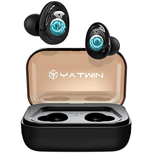 Neueste Bluetooth Kopfhörer Kabellos In Ear, YATWIN Sport Wireless Ohrhörer mit Portable Ladebox 3000 mAh,135 Stunden Spielzeit, IPX5 Wasserdicht, Für alle Bluetooth-Geräte