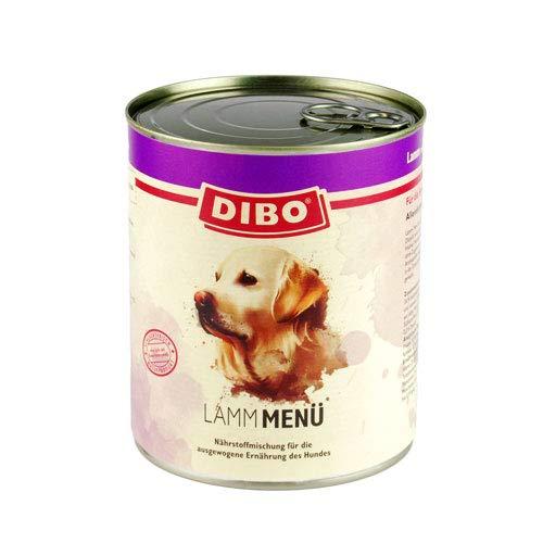 DIBO – MENÜ LAMM, 800g-Dose mit Süßkartoffeln, Gemüse und Distelöl, DIBO-Qualität