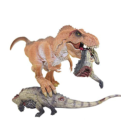 Muium ❀❀❀World Superataque del Tyrannosaurus Rex, Dinosaurio de Juguete Figura de acción del Dinosaurio Tyrannosaurus Rex con un Modelo de Base Animal Coleccionista de Juguetes❀❀❀