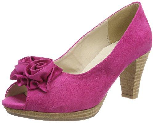 Andrea Conti Damen 0733109 Peeptoe Pumps, Pink (Pink), 38 EU