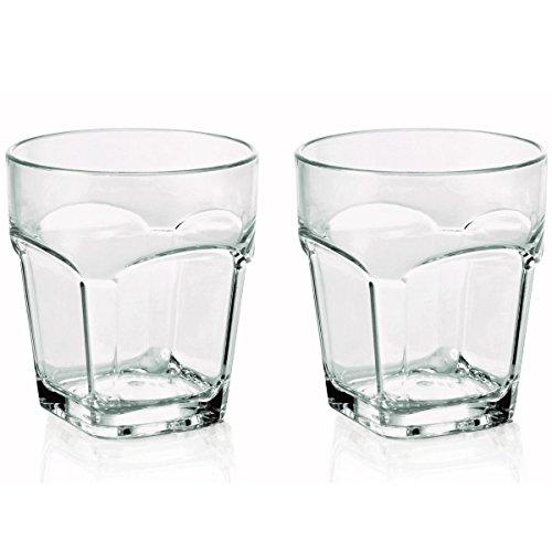 2 x bruchfestes Whiskyglas/Whiskeyglas ca.300 ml, Gläser Set aus hochwertigem Kunststoff (Polycarbonat), edle Gläser für Camping, Partys (wie echtes Glas)