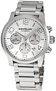 Montblanc Silver Dial Steel Mens Watch 9669 image
