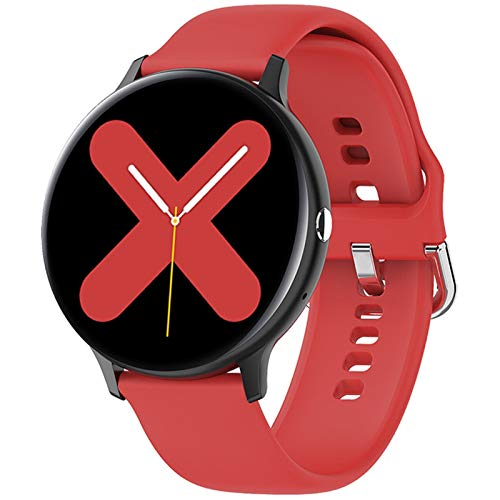 Reloj inteligente para hombre con Bluetooth, llamadas, música, fitness, pulsera inteligente, IP68, Full Touch Sport Digital para Android IOS (color I11 rojo)