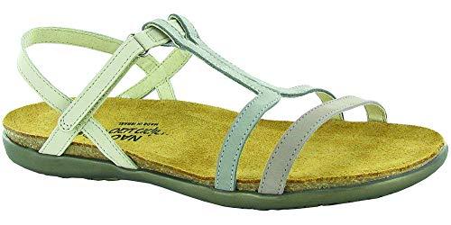 Naot Damen Schuhe Sandaletten Judith Echt-Leder Stone grau beige Nubuk 16545, Größe:41