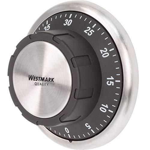 Westmark Kurzzeitmesser/Küchentimer, mechanisch, magnetisch, 1-60 Minuten, Edelstahl/Kunststoff, Redondo, Anthrazit/Silber, 10922260