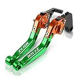 MSYQ Motocicleta Palanca para Ka-wasaki Ninja ZX-12R ZX12R 2000 2001 2002 2003 2004 2005 Palancas De Embrague De Freno Plegables Extensibles Ajustables CNC para Motocicleta Palanca (Color : F)