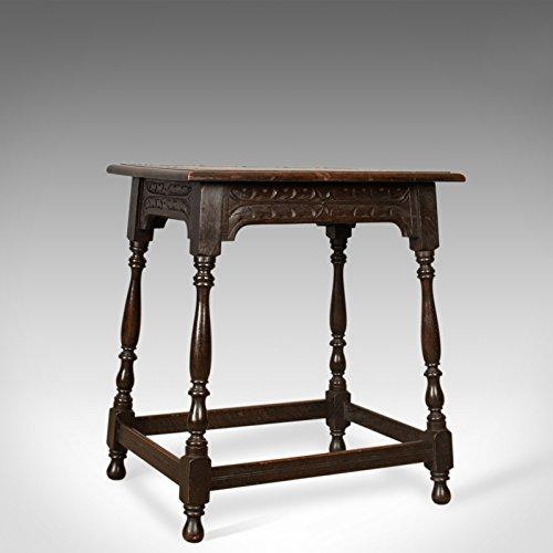 London feiner Antiquitäten Antik Beistelltisch, Jacobean Revival Geschmack, Englisch, Victorian, Eiche, Lampe, C1900