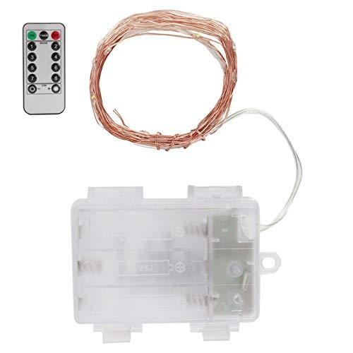 Cadena de luz LED Alambre de cobre Luz suave ajustable Romántica con control remoto para decoración de bodas(warm light)