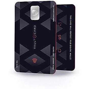 vaultcard–RFID blockierender Carte de crédit Protection pour la Carte Portefeuille/NFC blockierende. Protège Plusieurs Cartes sans Contact en même Temps. Sûr RFID Blocker.