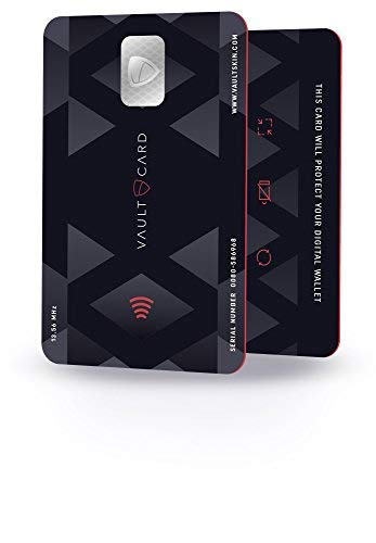 VAULTCARD - RFID Blocking & Jamming Credit & Debit Card Protection for Your Wallet and Passport/NFC Jamming Card, Protects Several Cards at The Same time