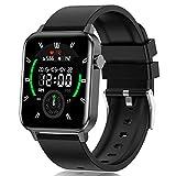 Smartwatch para Hombre y Mujer, Impermeable IP68 Reloj Inteligente con Pulsómetro Cronómetros Calorías Monitor de Sueño Podómetro Pulsera Actividad Inteligente Reloj deportivo para Android iOS(Negro)