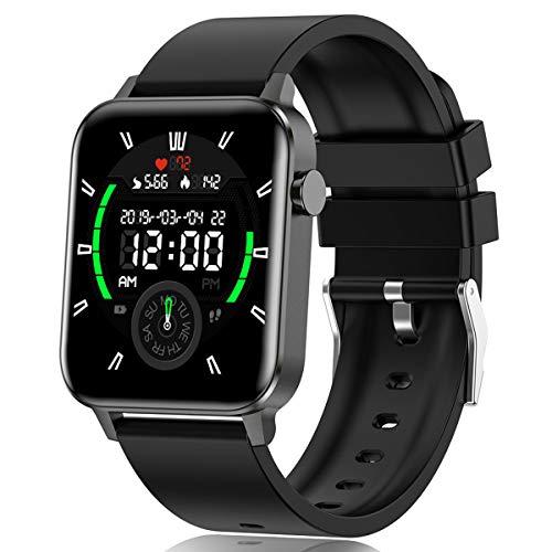 Smartwatch Uomo, Orologio Fitness Tracker Donna, Impermeabile IP68 Cardiofrequenzimetro Notifica Messaggi Pedometro 1,4 pollici Polso Orologio Sportivo Calorie Activity Tracker per Android iOS