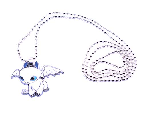 Anime Domain How to Train Your Dragon necklace (Light Fury)