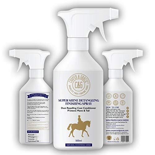 C&G Pets - Spray districante per Cavalli, 500 ml, Repellente alla Polvere, con ingredienti Naturali, Protegge la Coda di criniera e la lucentezza Naturale