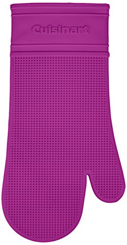 Cuisinart Silicone Heat-Proof Oven Mitt with Quilted Cotton Lining, Purple