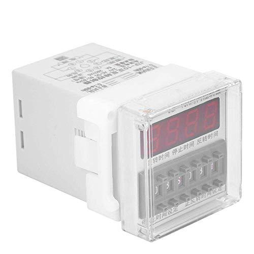 YEESEU Controlador de Tiempo Relay, Controlador de Motor CW/CCW Interruptor automático Timing Forward y el Tiempo inverso Controlador de relé 0.1S-99H (24 V CA/CC)
